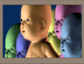 Montage of high-tech baby images